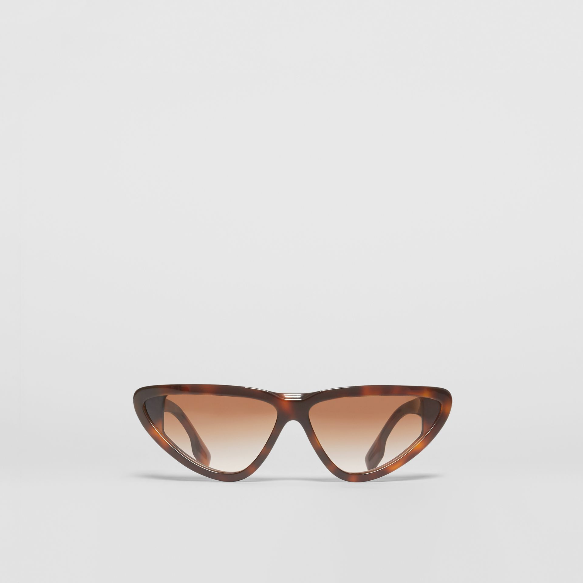 Triangular Frame Sunglasses in Tortoiseshell - Women | Burberry - gallery image 0