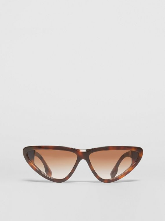 Triangular Frame Sunglasses in Tortoiseshell