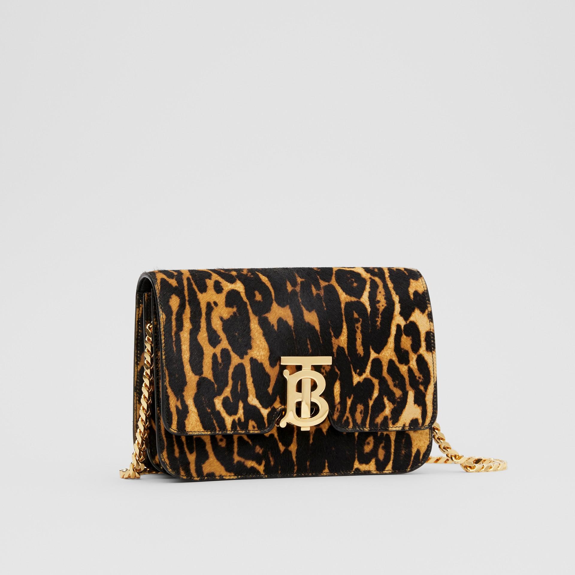 Small Leopard Print Calf Hair TB Bag in Dark Mustard - Women | Burberry Hong Kong S.A.R - gallery image 6