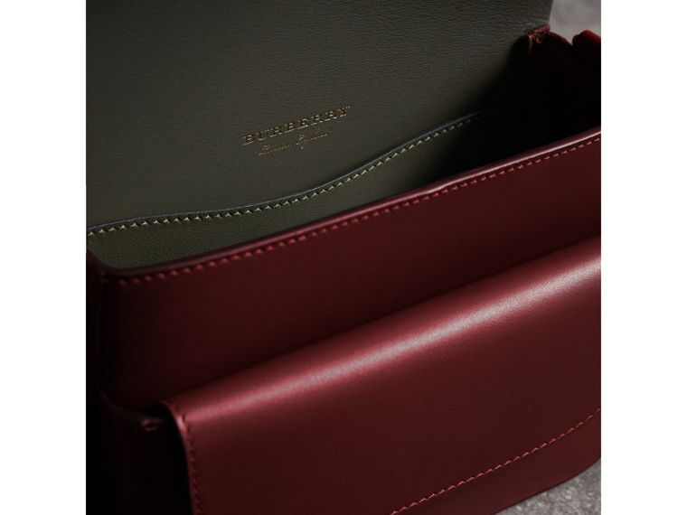 The Square Satchel in Bridle Leather in Deep Claret - Women | Burberry Australia - cell image 4