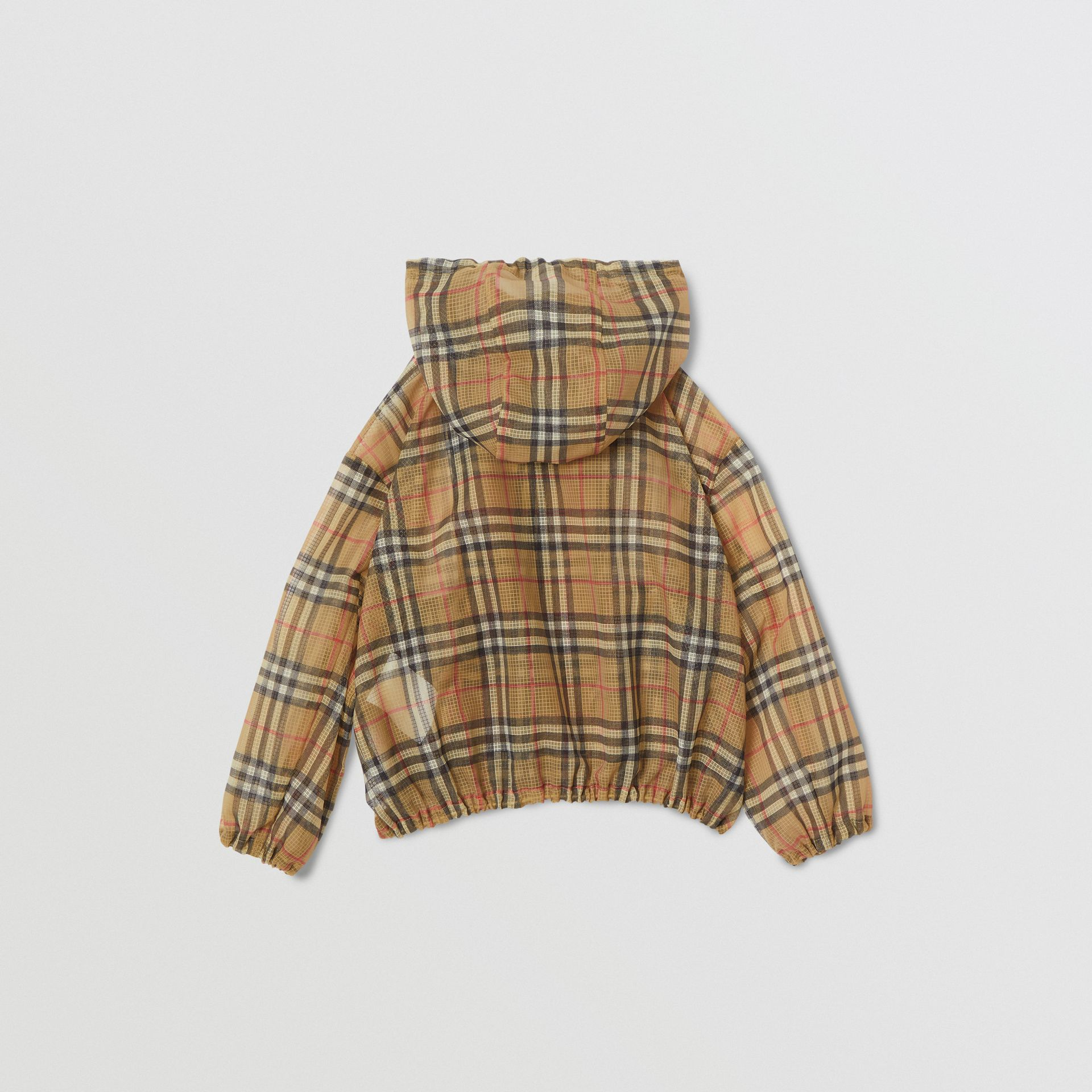 Lightweight Vintage Check Hooded Jacket in Antique Yellow | Burberry Hong Kong - gallery image 4