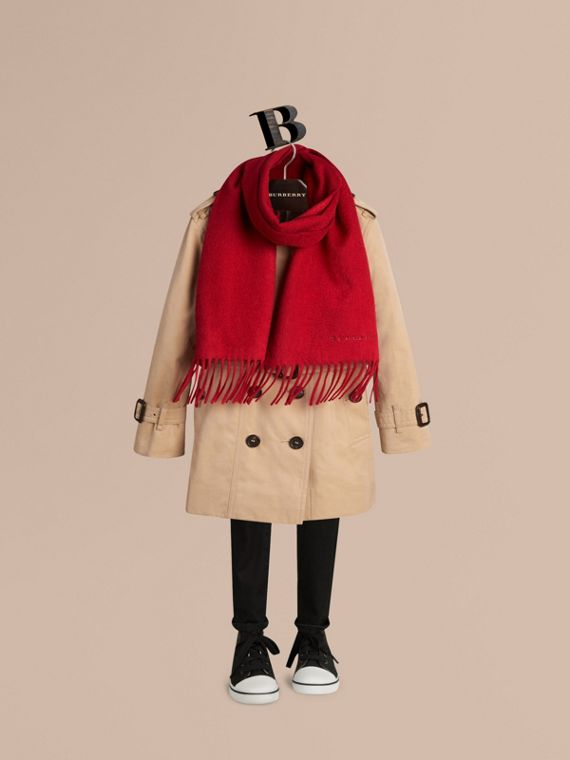 The Mini Classic Cashmere Scarf in Parade Red - cell image 2