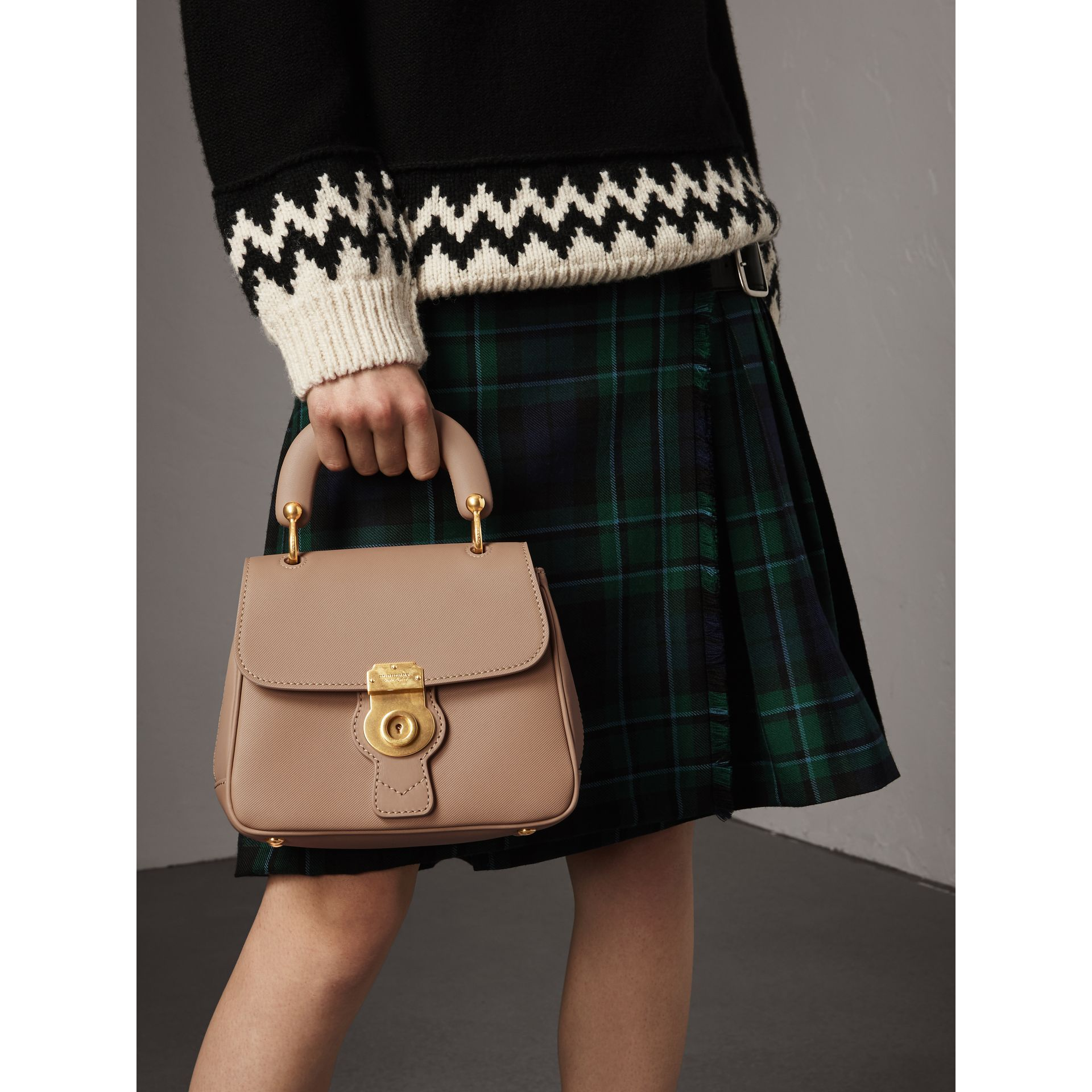 The Small DK88 Top Handle Bag in Honey - Women | Burberry - gallery image 4