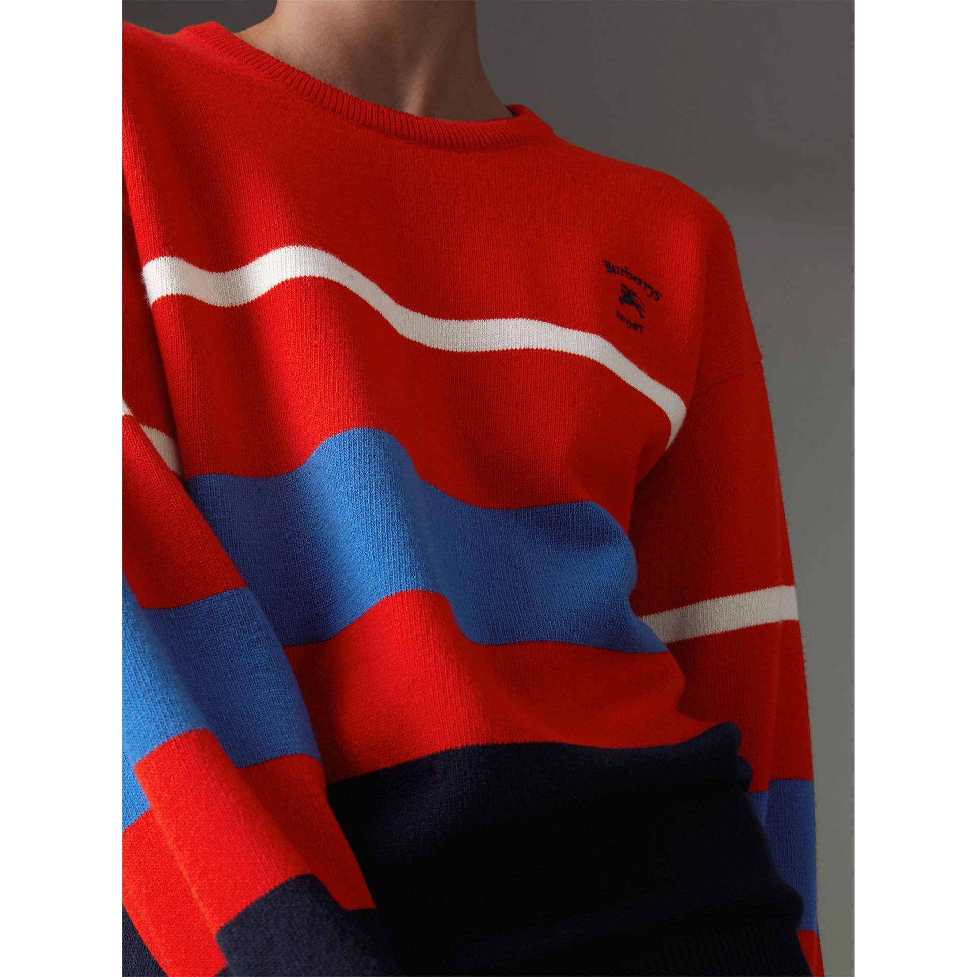 Reissued Lambswool Sweater in Red - Women | Burberry Hong Kong - gallery image 1