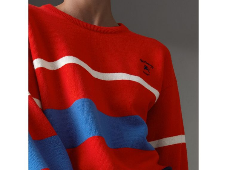 Reissued Lambswool Sweater in Red - Women | Burberry Australia - cell image 1