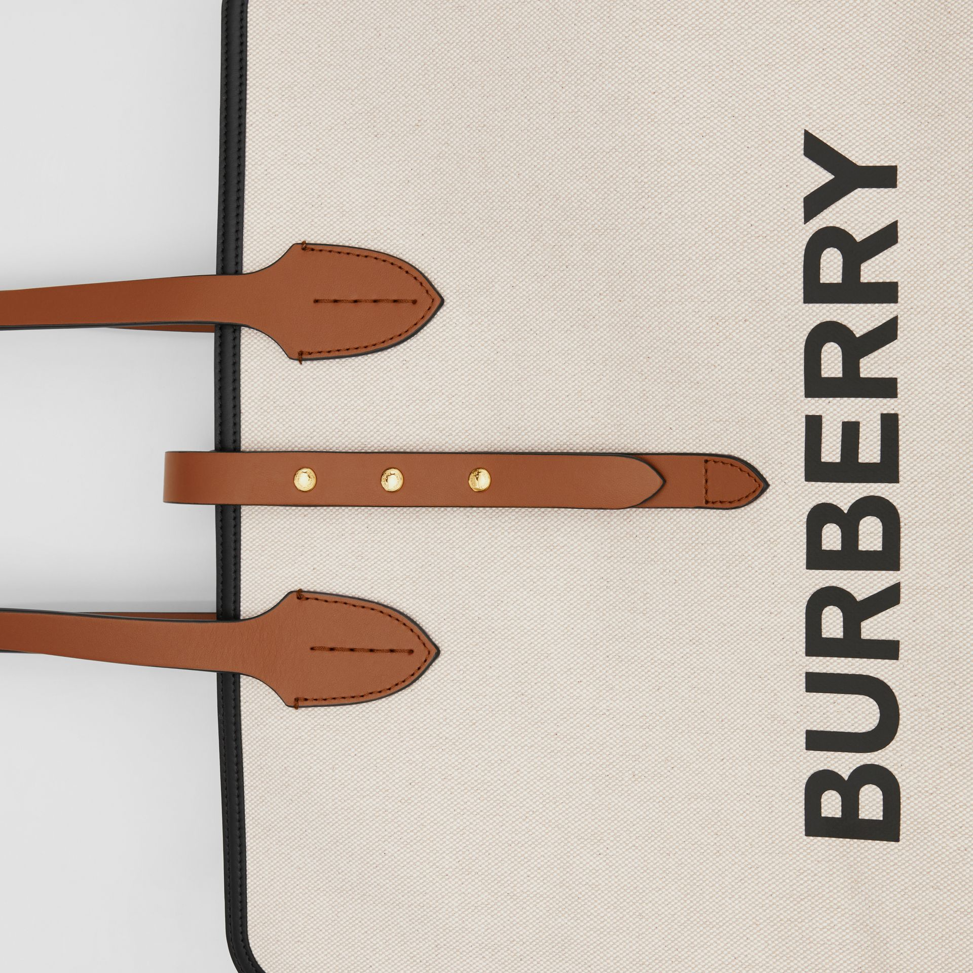 The Large Soft Cotton Canvas Belt Bag in Malt Brown | Burberry Singapore - gallery image 1