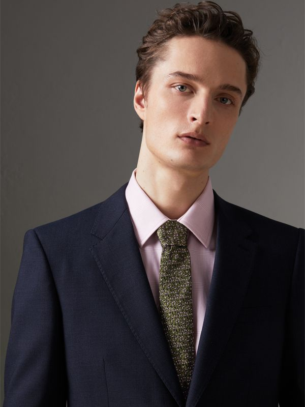 Modern Cut Floral Spot Silk Tie in Moss Green - Men | Burberry Singapore - cell image 2