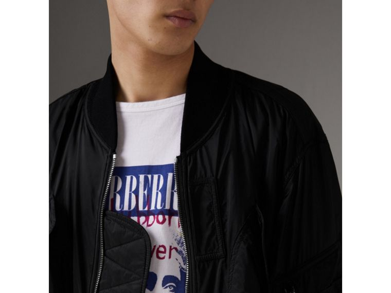 Lightweight Technical Bomber Jacket in Black - Men | Burberry - cell image 1