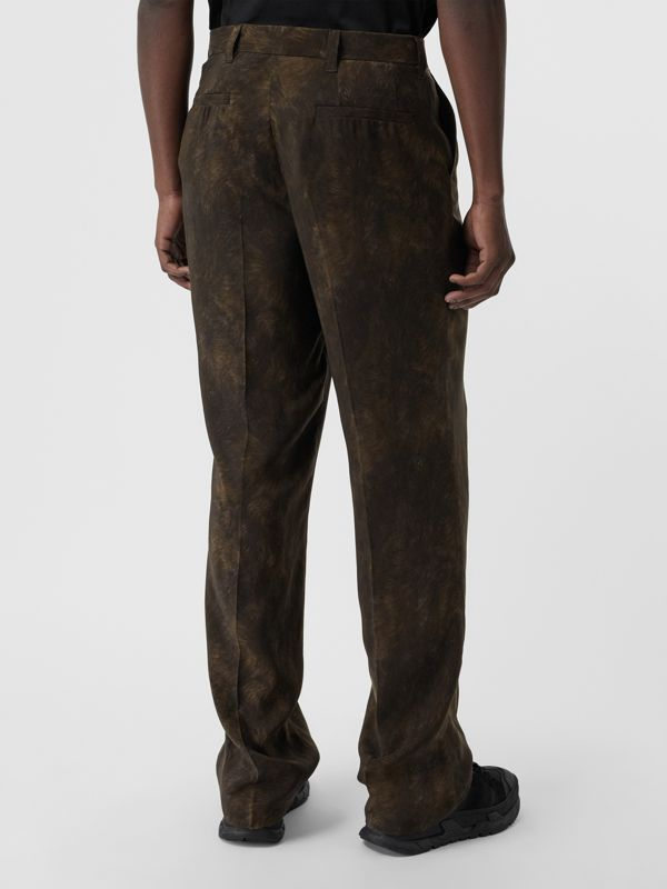 Relaxed Fit Animal Print Trousers in Brown | Burberry - cell image 2