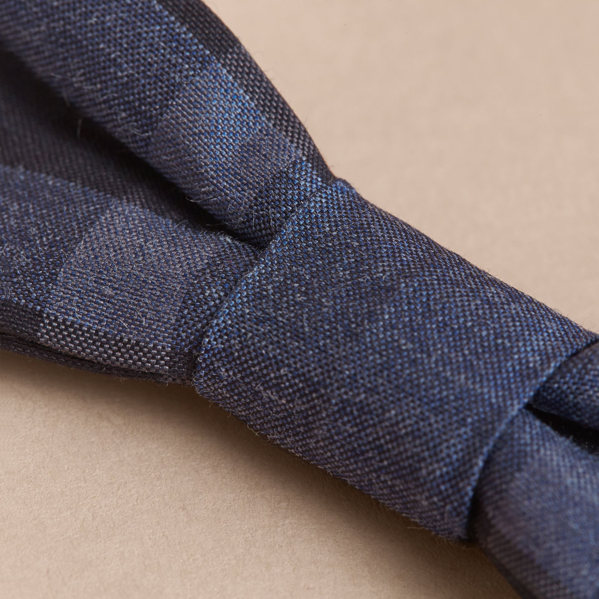Check Silk Blend Bow Tie in Dark Mineral Blue - Boy | Burberry - gallery image 2