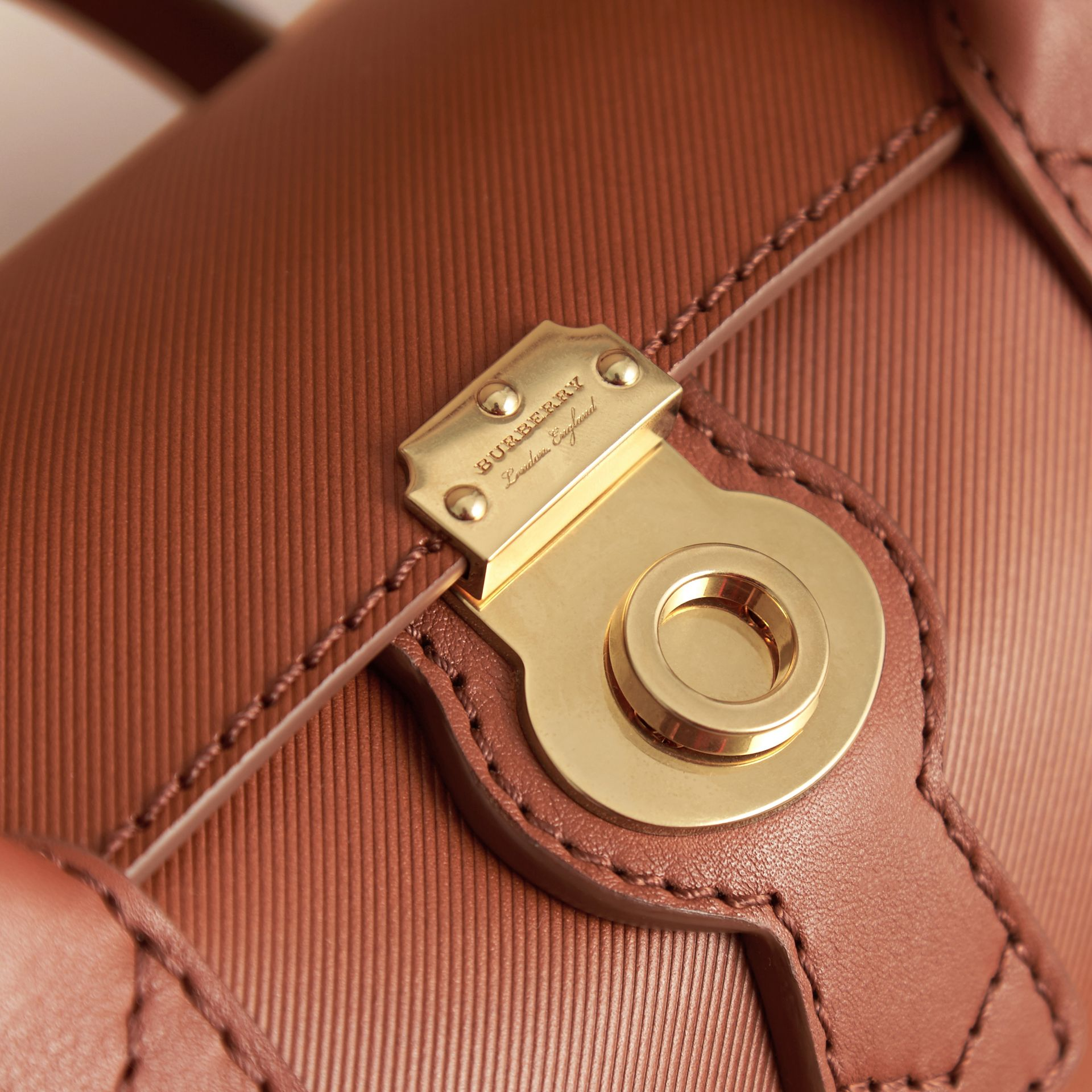 The Small DK88 Barrel Bag in Tan - Women | Burberry - gallery image 2