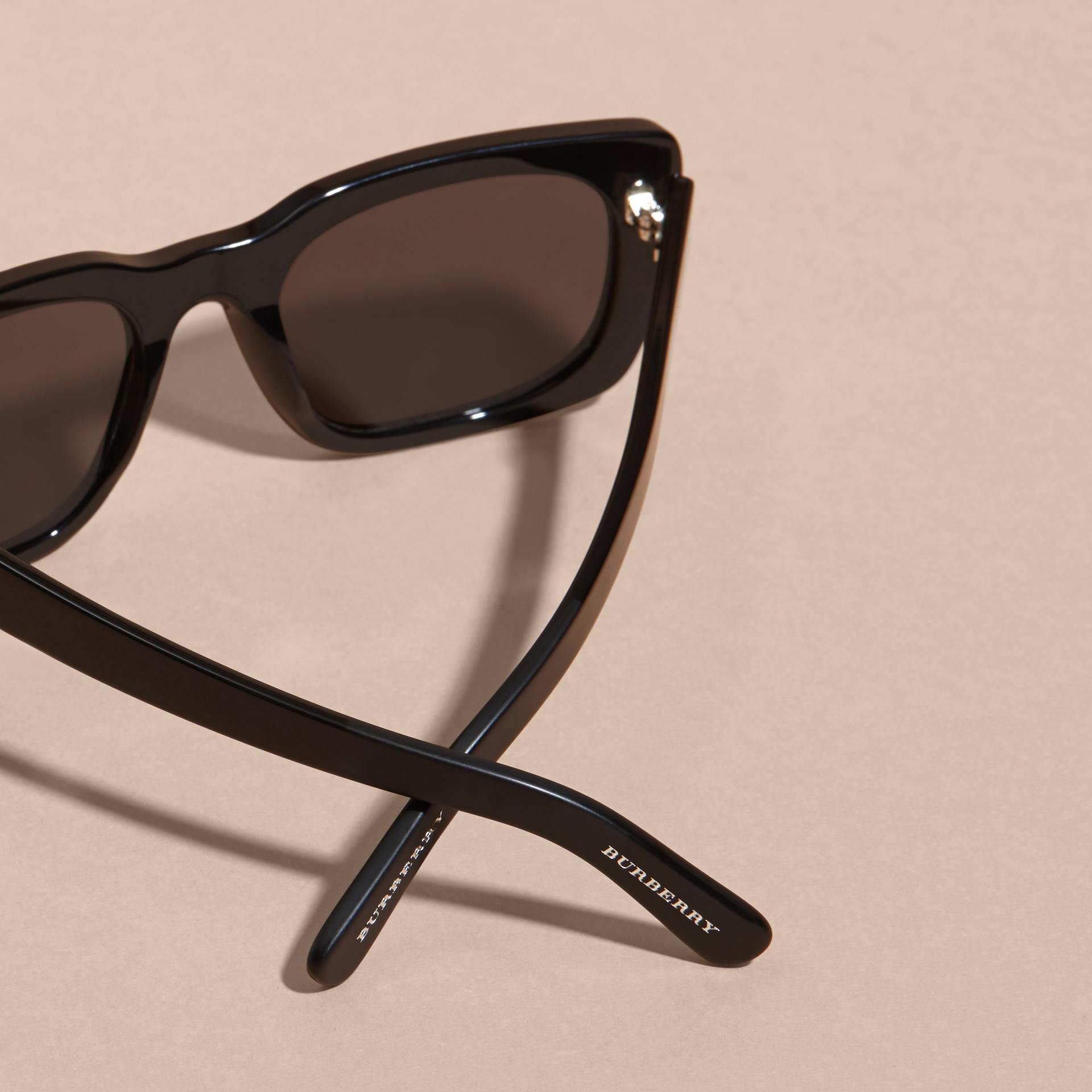 Negro Gafas de sol con montura cuadrada Negro - imagen de la galería 3