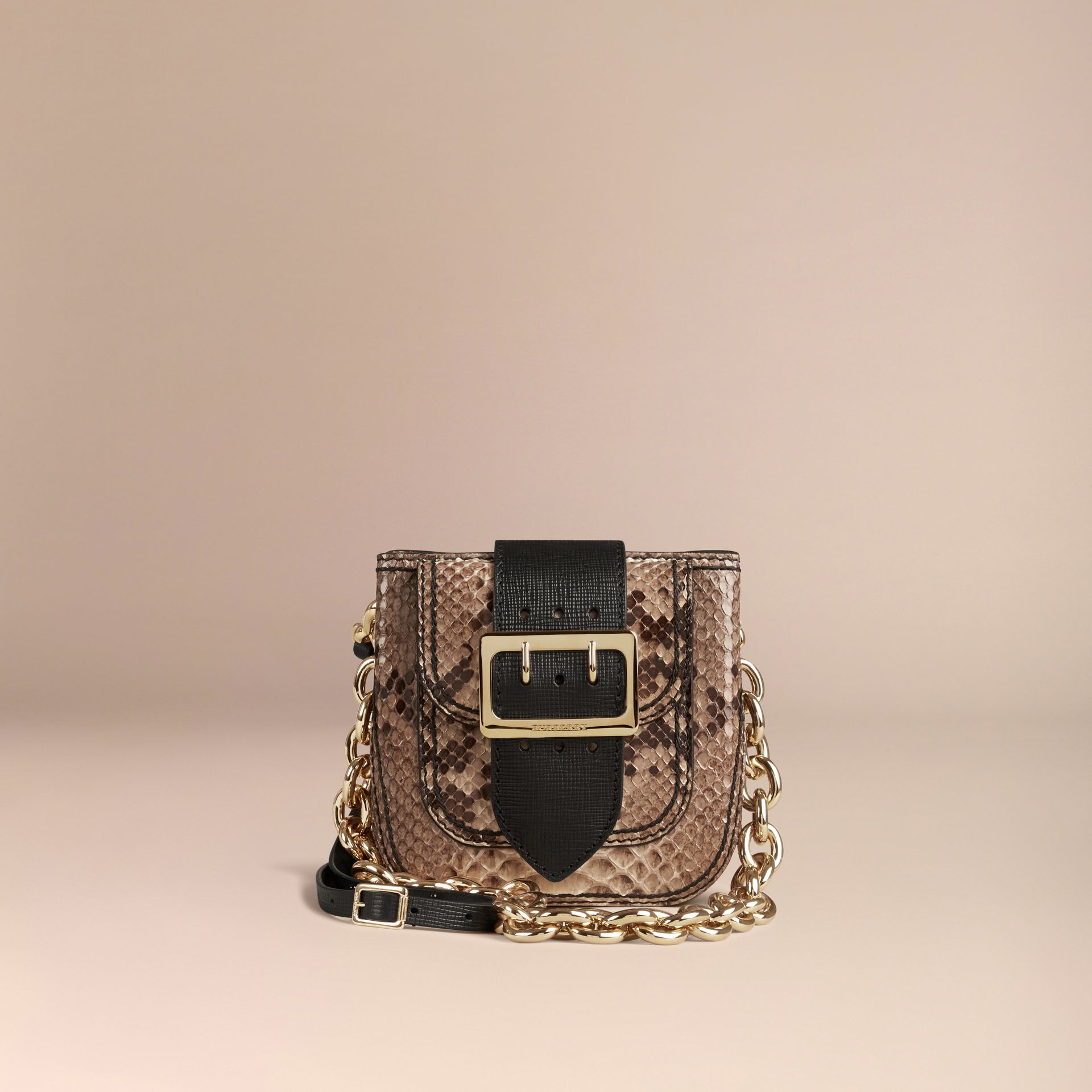 The Small Square Buckle Bag in Python Limited Edition - gallery image 7