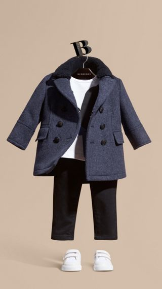 Wool Cashmere Blend Pea Coat