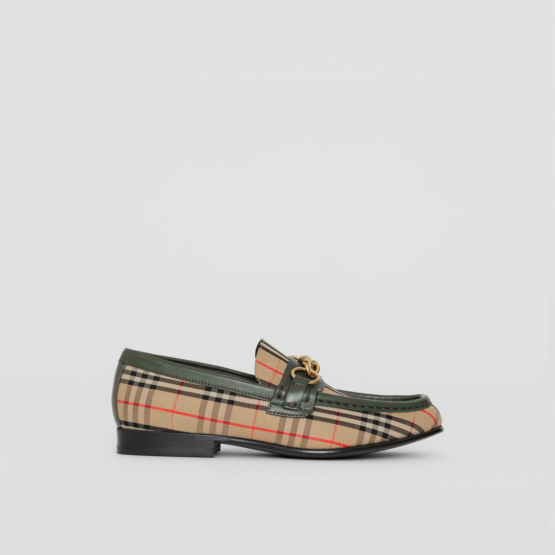 The 1983 Check Link Loafer in Dark Forest Green - Women | Burberry United Kingdom - gallery image 4