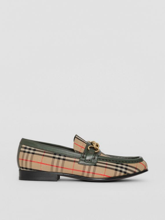 The 1983 Check Link Loafer in Dark Forest Green