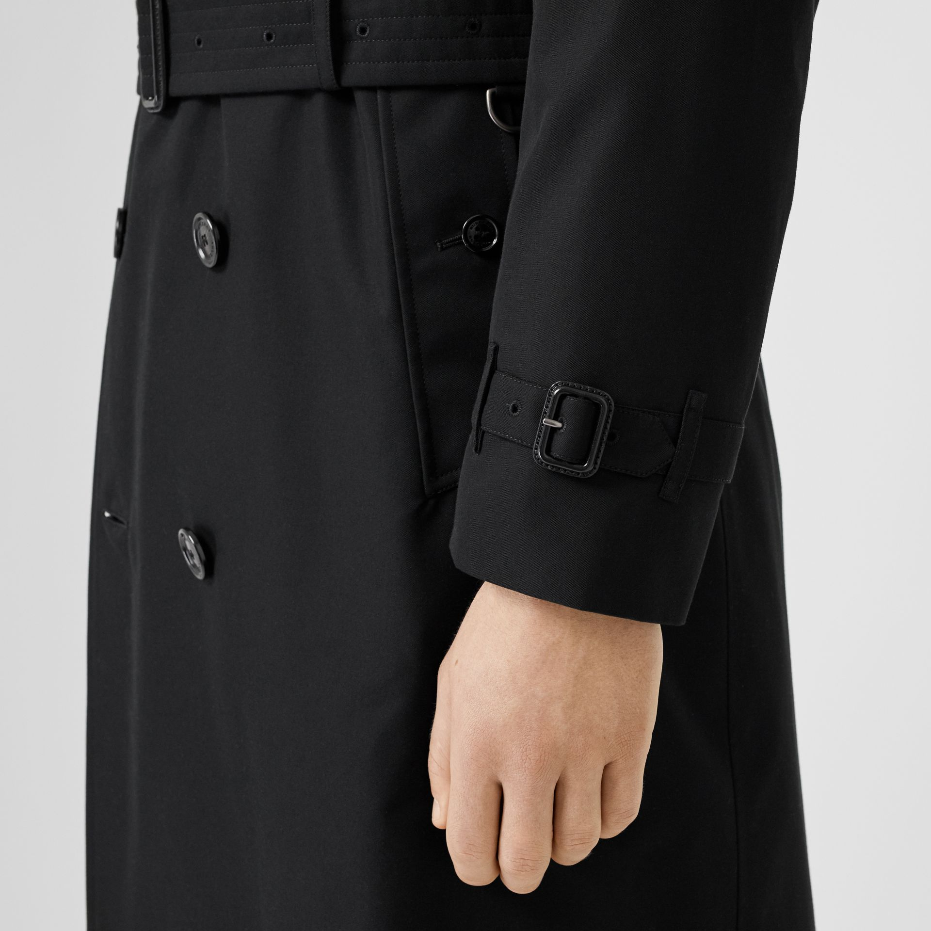 The Long Kensington Heritage Trench Coat in Black - Men | Burberry - gallery image 6