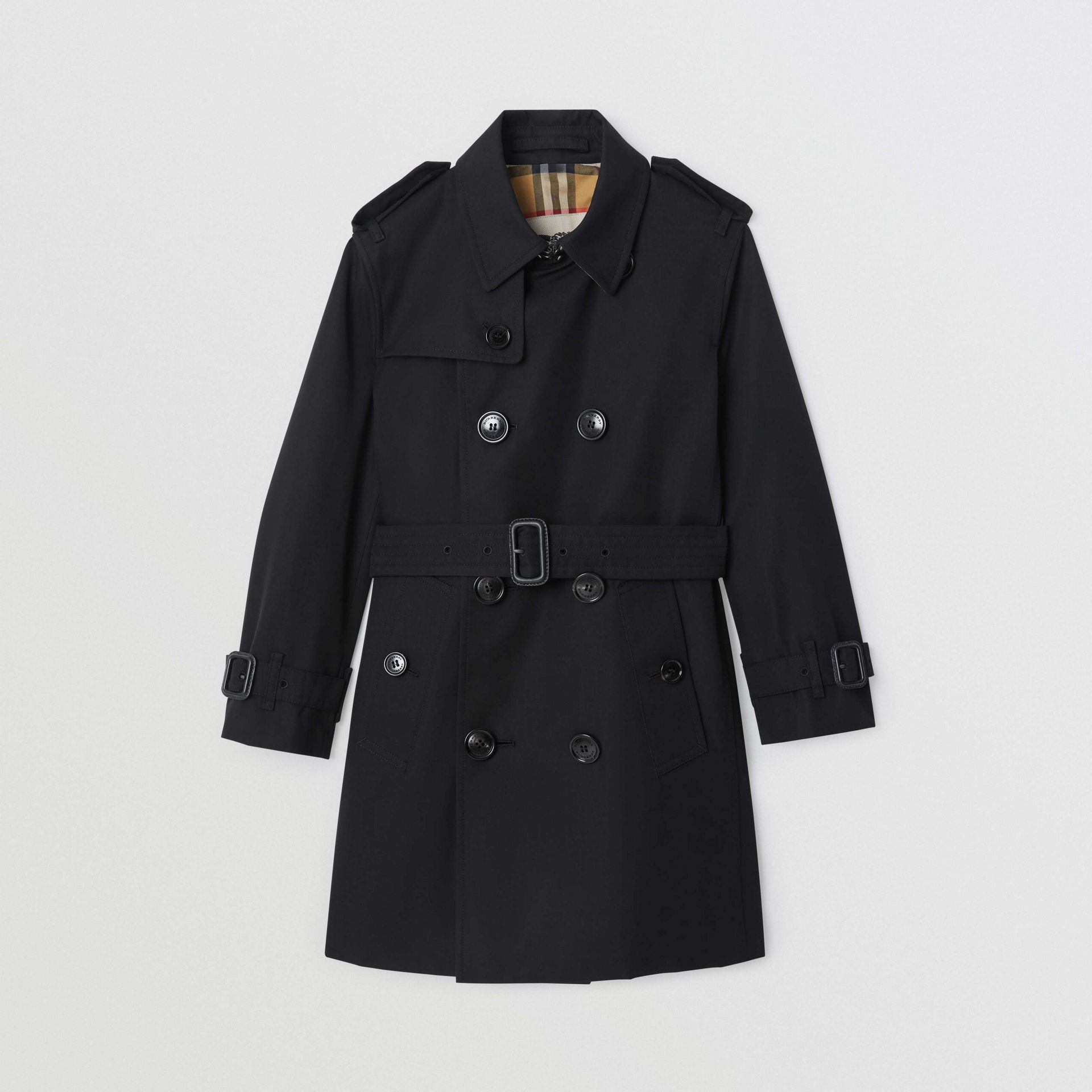 Cotton Gabardine Trench Coat in Black | Burberry - gallery image 0