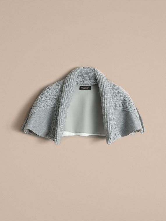 Cable Knit and Brushed-back Jersey Capelet - Women | Burberry - cell image 3