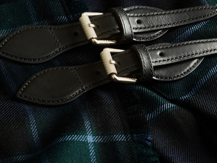 Bottle green Check Wool Kilt - cell image 1