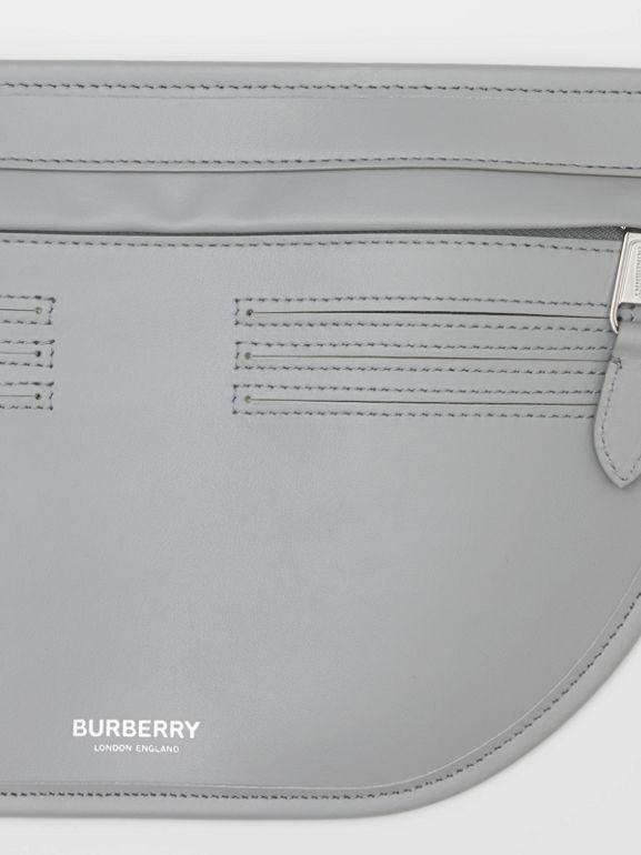 Leather Brummell Bum Bag in Cloud Grey | Burberry United Kingdom - cell image 1