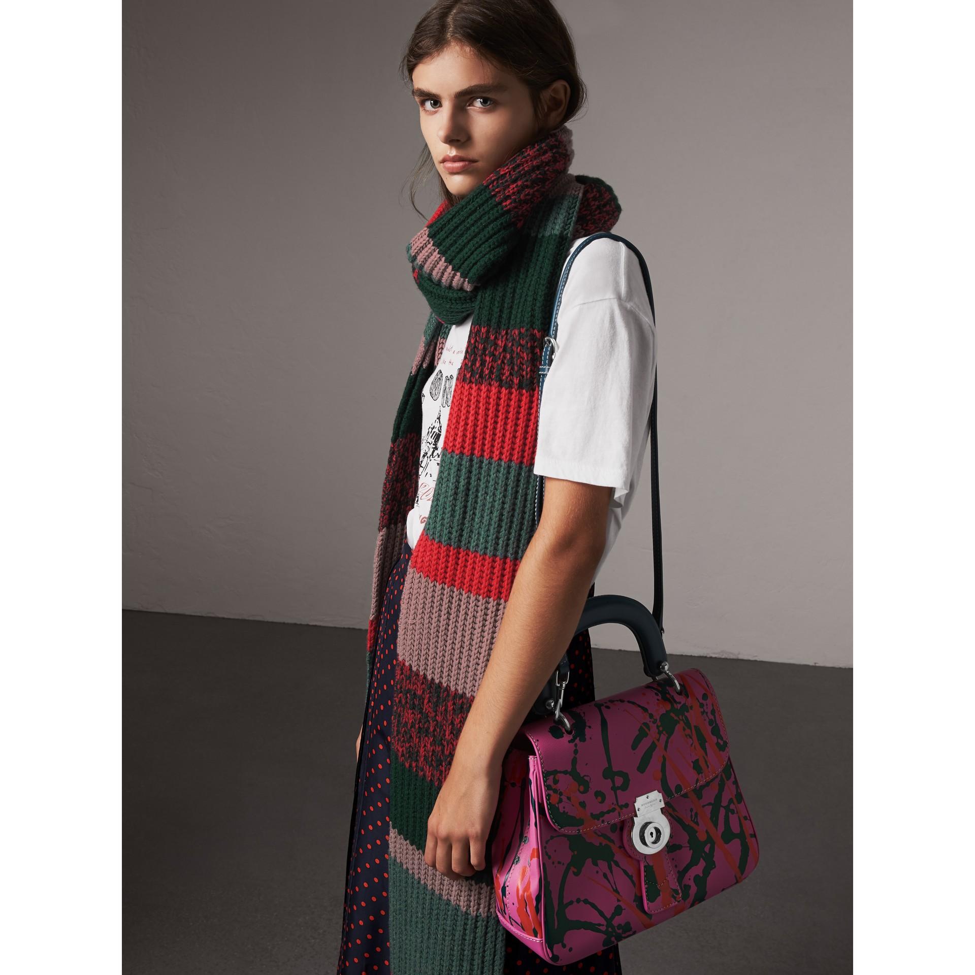 The DK88 media con motivo a macchie e manico (Rosa Petalo) - Donna | Burberry - immagine della galleria 3
