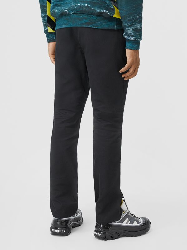 Classic Fit Cotton Chinos in Black - Men | Burberry - cell image 2