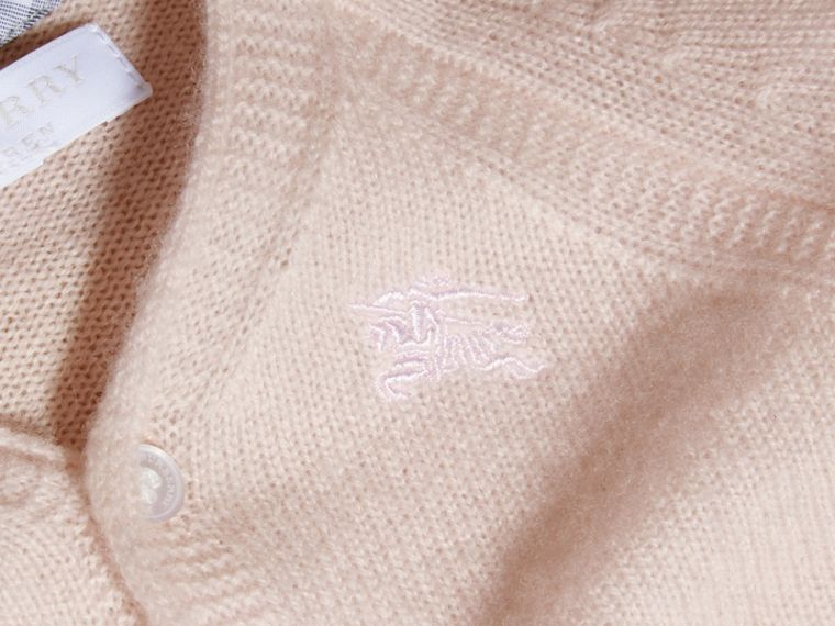 Classic Cashmere Cardigan in Powder Pink | Burberry Australia - cell image 1