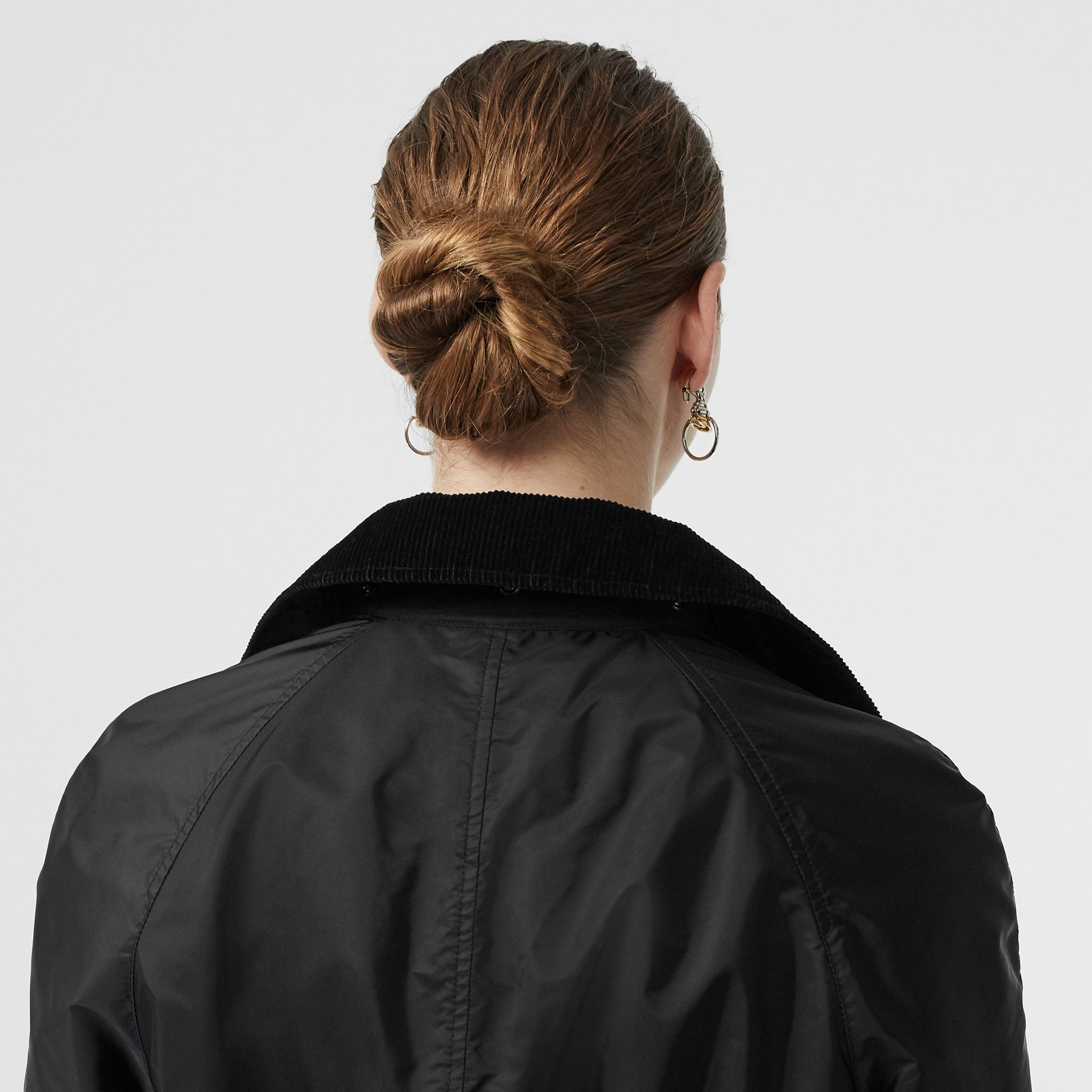 Detachable Hood Taffeta Parka in Black - Women | Burberry - gallery image 4