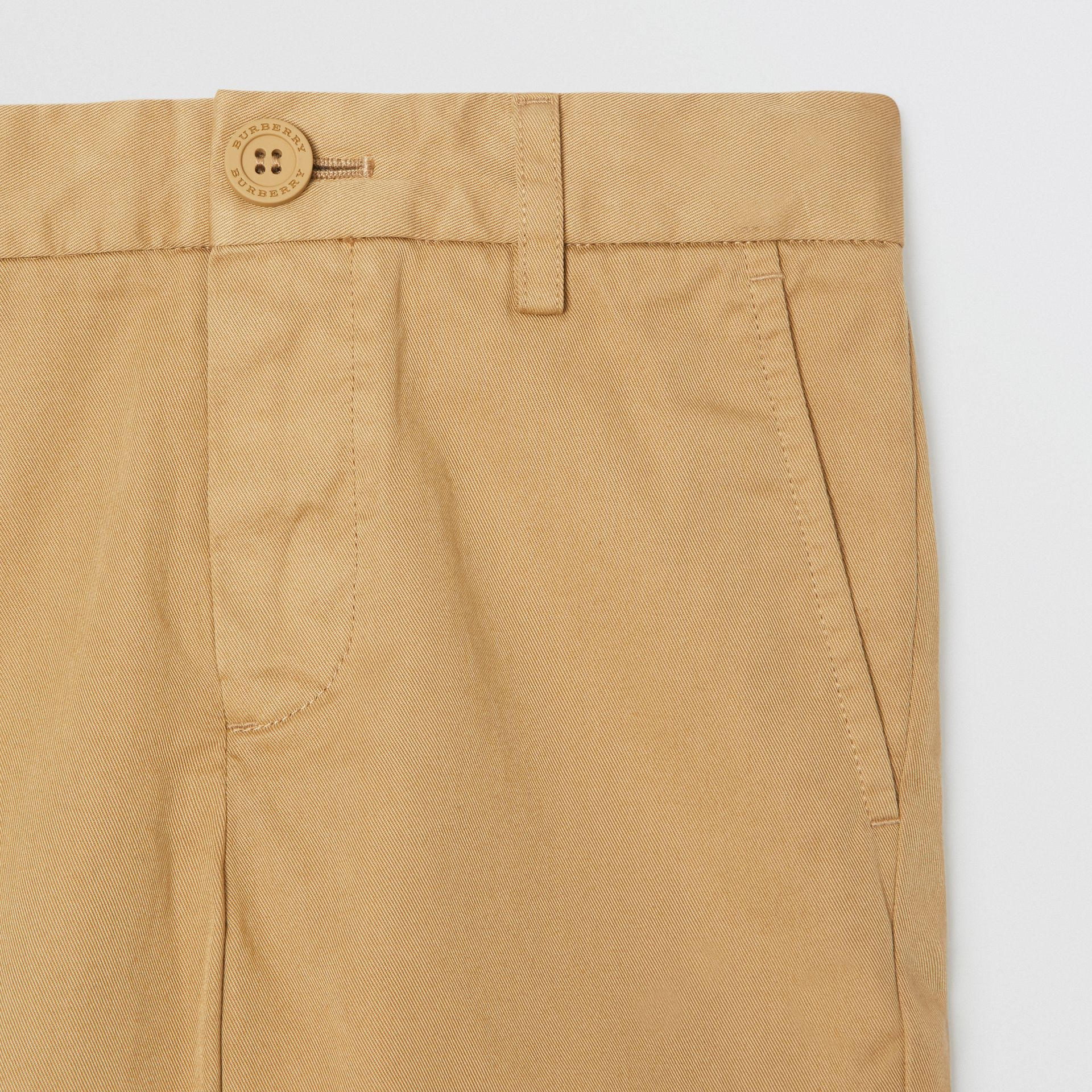 Cotton Chino Shorts in Taupe | Burberry - gallery image 4