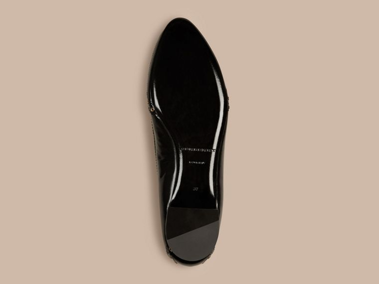 Black Online Exclusive Wingtip Leather Ballerinas - cell image 4