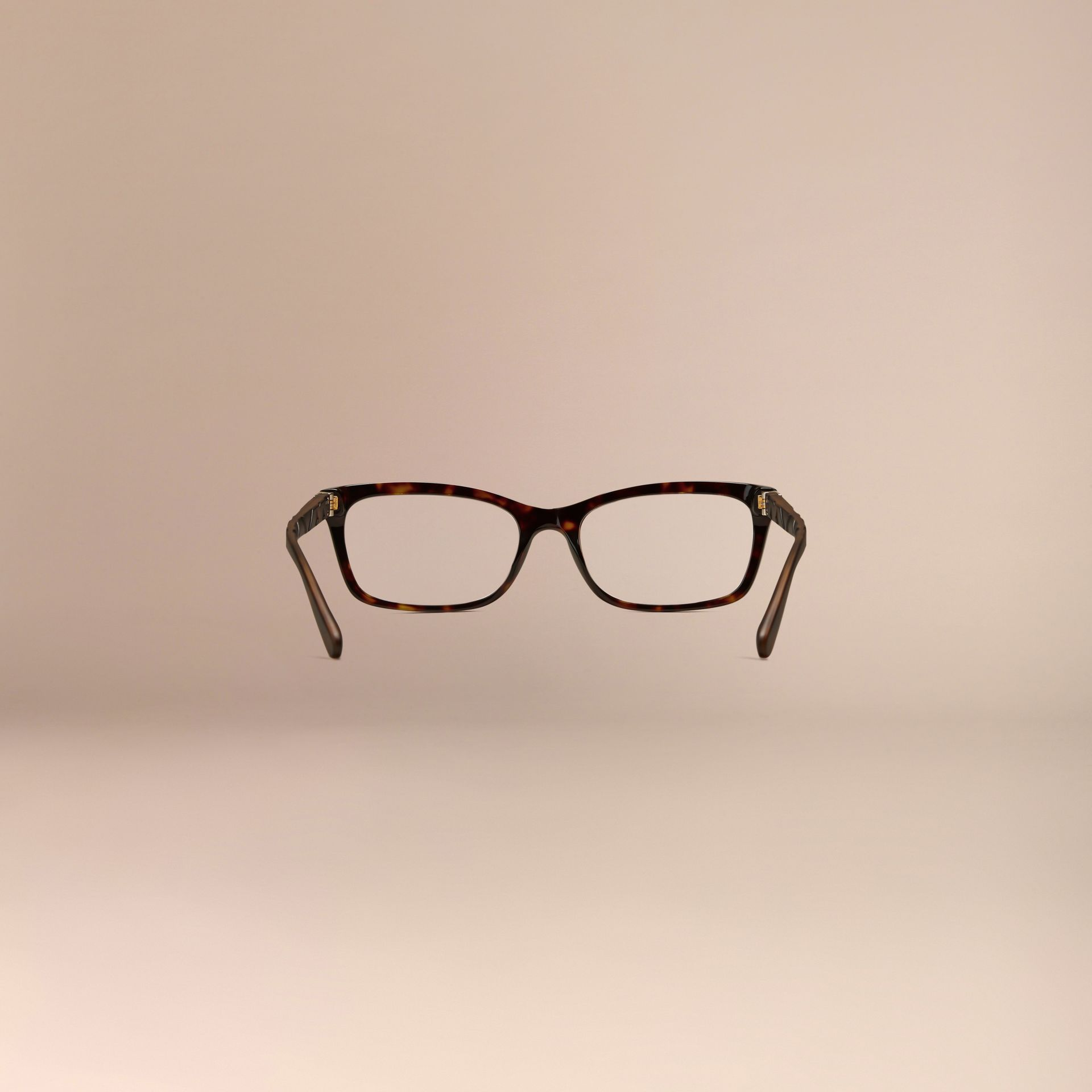 Check Detail Rectangular Optical Frames Tortoiseshell - gallery image 4