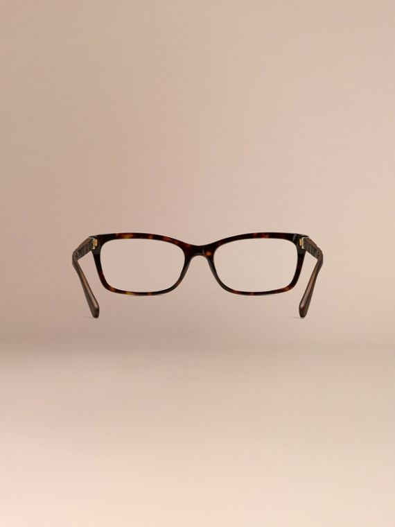 Carey Gafas de ver con montura rectangular y detalles de checks Carey - cell image 3