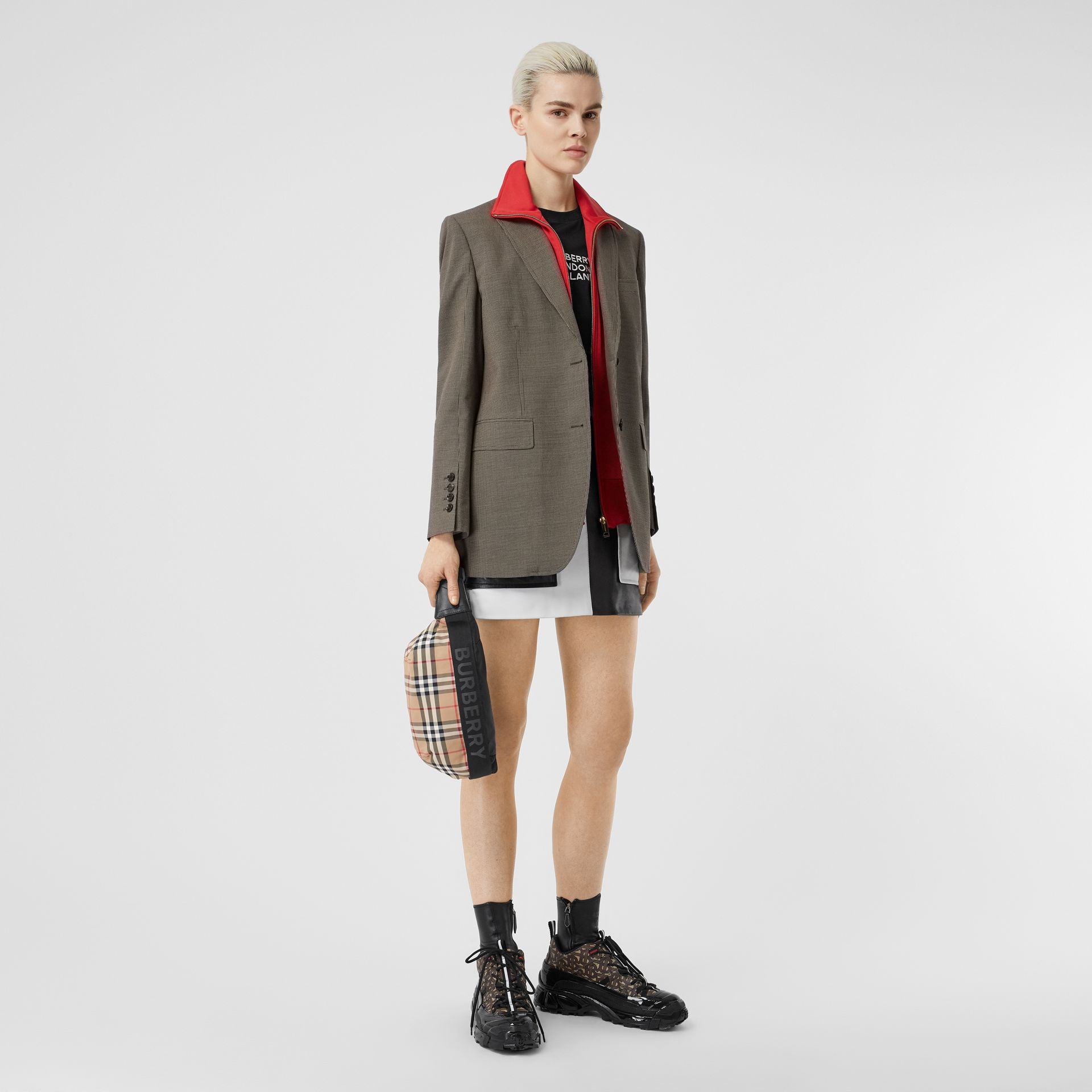 Medium Vintage Check Bum Bag in Archive Beige - Women | Burberry - gallery image 6