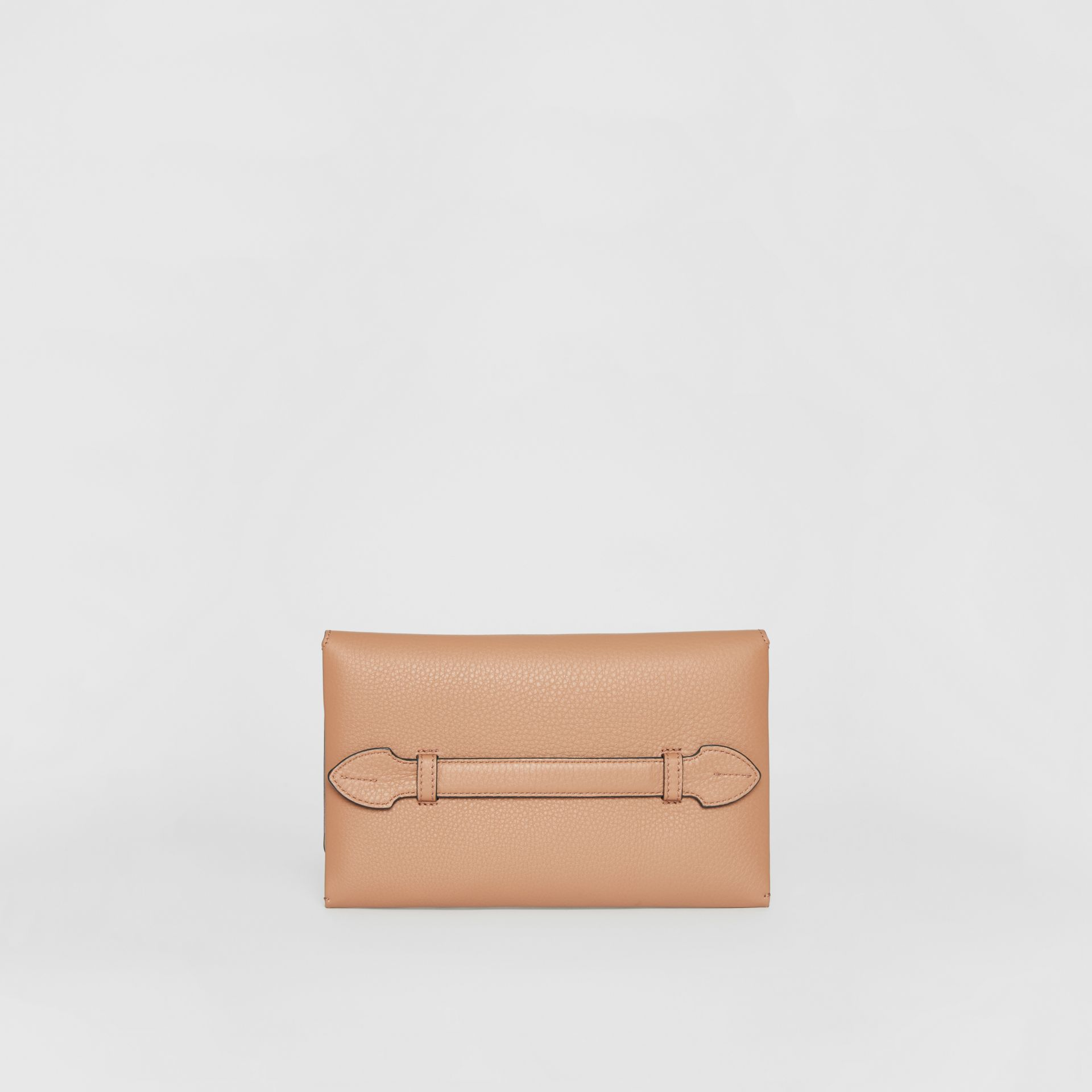 Two-tone Leather Wristlet Clutch in Light Camel - Women | Burberry United Kingdom - gallery image 7
