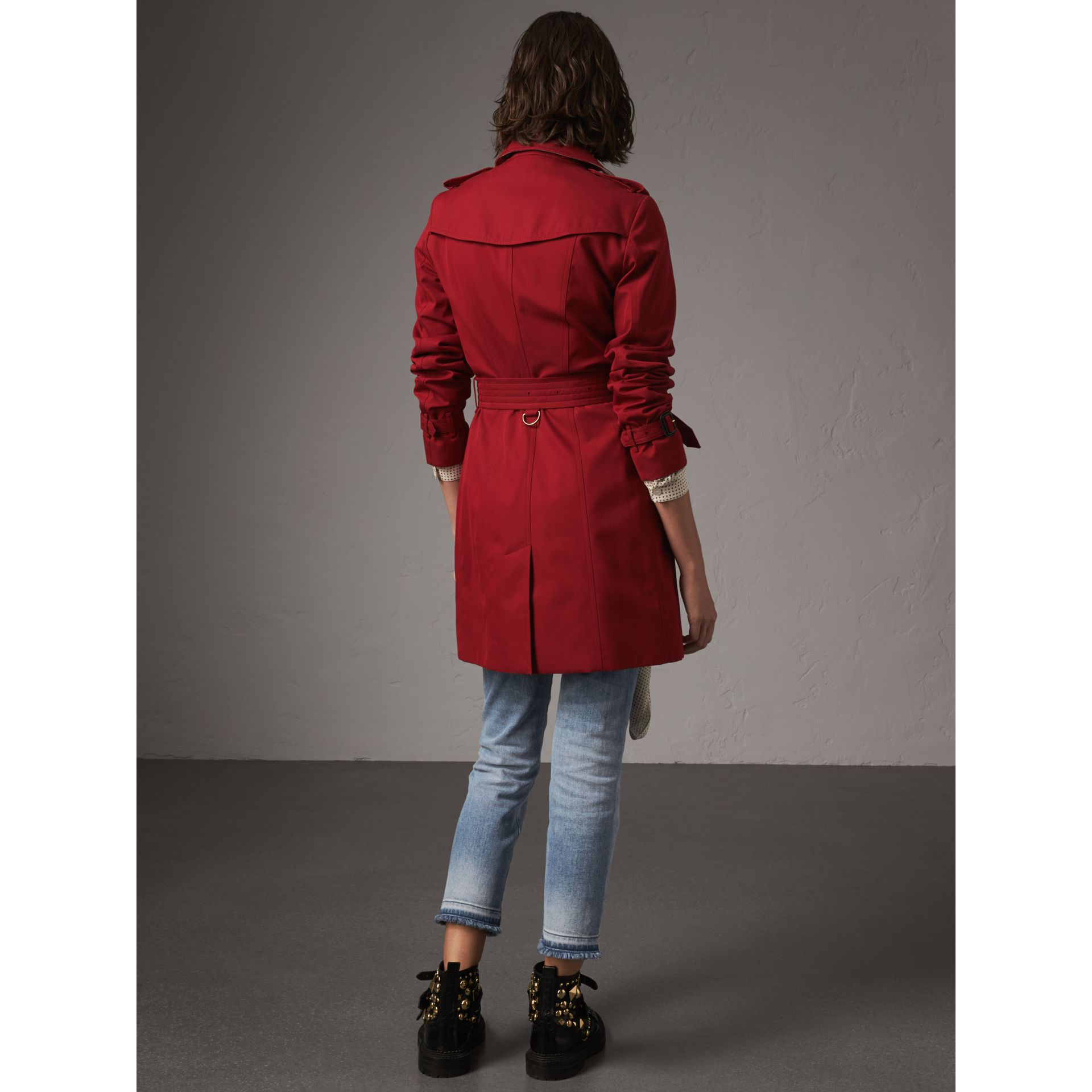 The Sandringham – Mid-length Trench Coat in Parade Red - Women | Burberry United Kingdom - gallery image 3