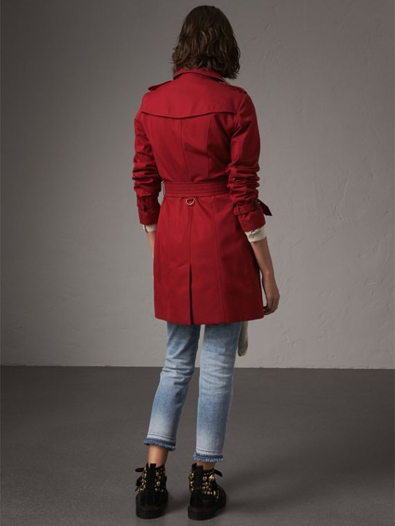 The Sandringham – Mid-length Trench Coat in Parade Red - Women | Burberry - cell image 2
