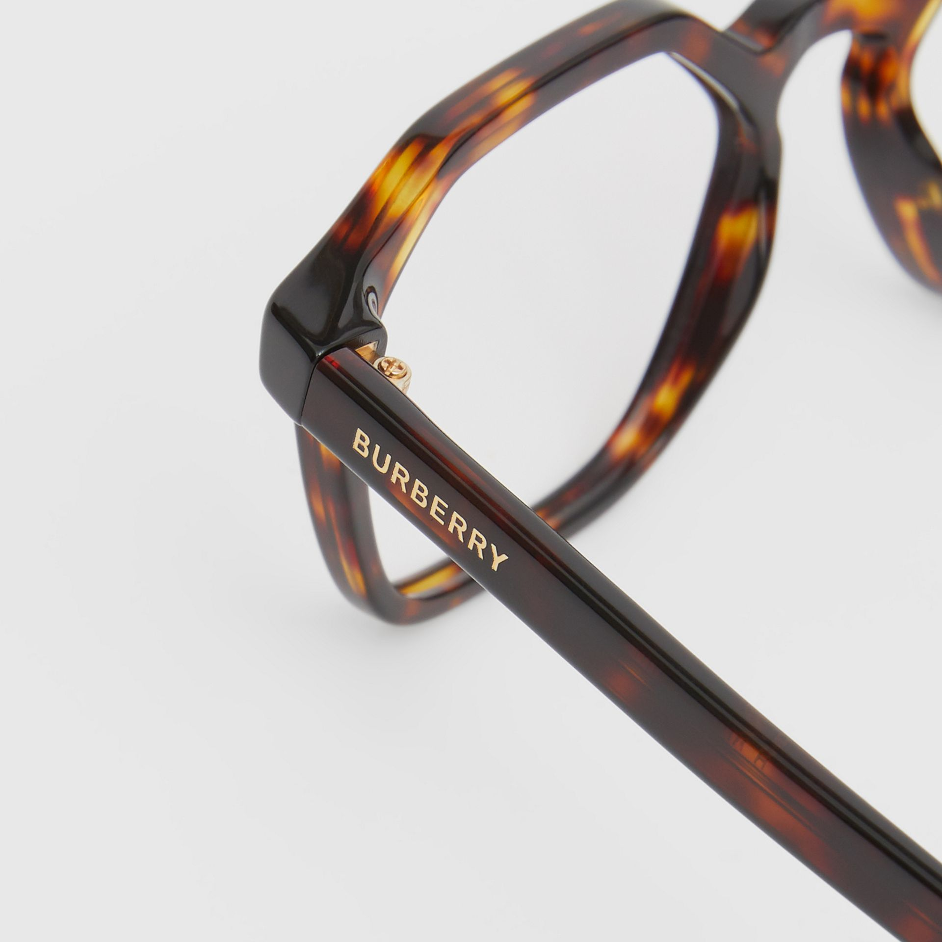 Geometric Optical Frames in Tortoiseshell - Women | Burberry Singapore - gallery image 1