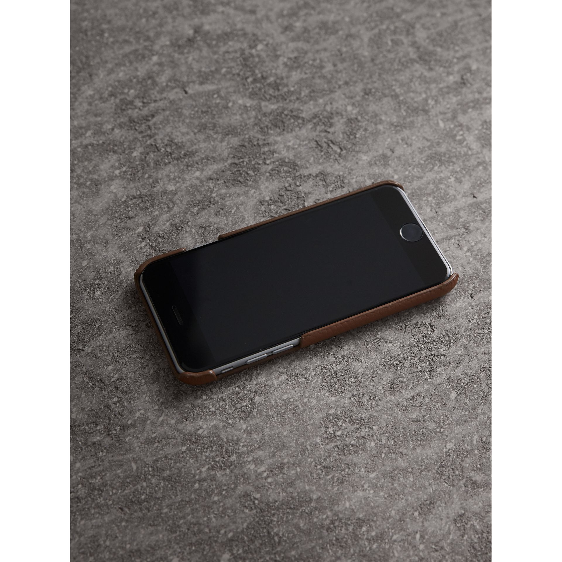London Leather iPhone 7 Case in Chestnut Brown | Burberry - gallery image 2