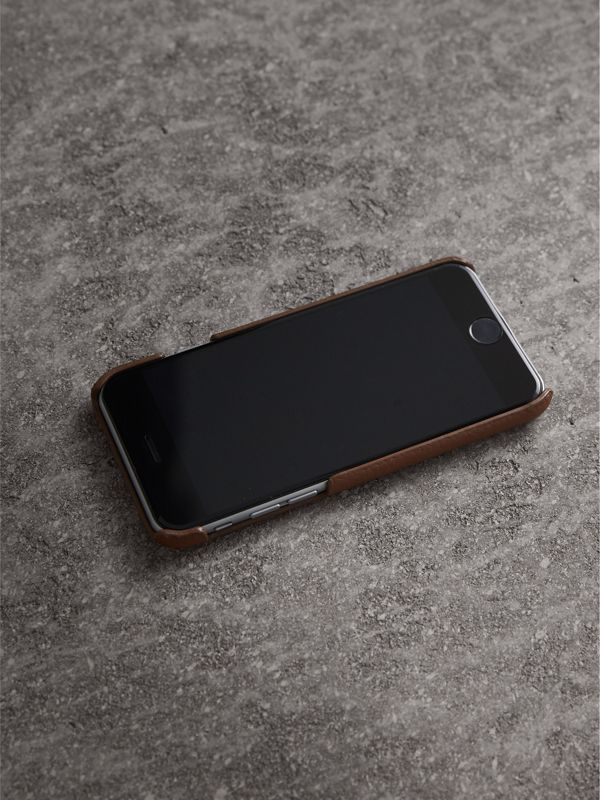 London Leather iPhone 7 Case in Chestnut Brown | Burberry - cell image 2
