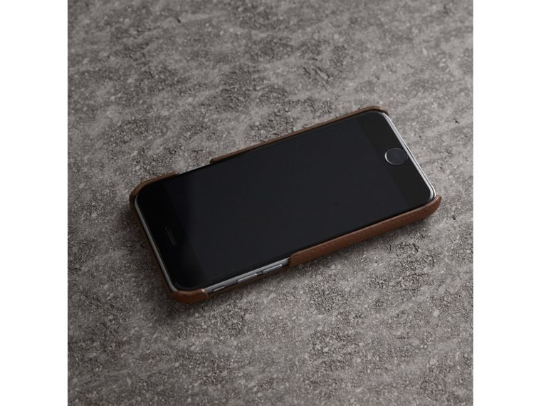 London Leather iPhone 7 Case in Chestnut Brown - Women | Burberry - cell image 2