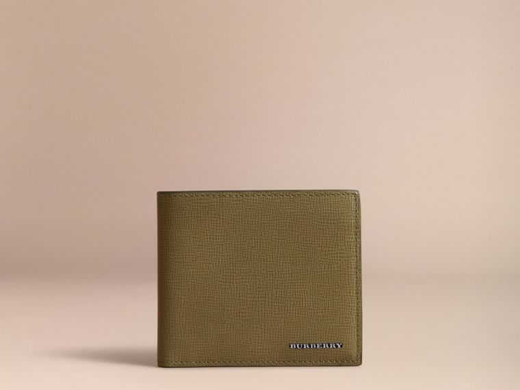 Cartera plegable en piel London (Verde Oliva) | Burberry - cell image 1