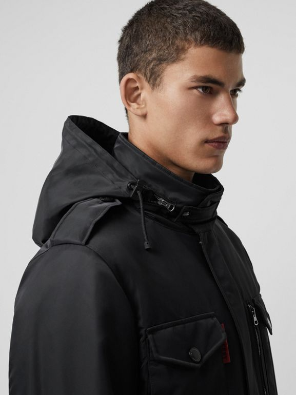 Packaway Hood Padded Field Jacket in Black - Men | Burberry - cell image 1