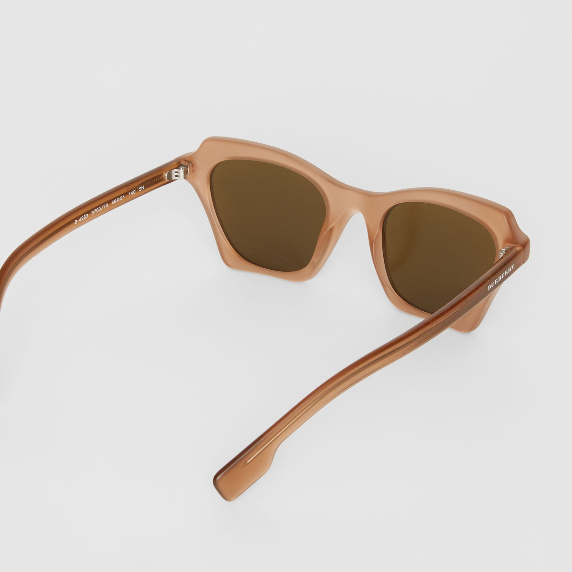 Butterfly Frame Sunglasses in Brown - Women | Burberry - gallery image 4