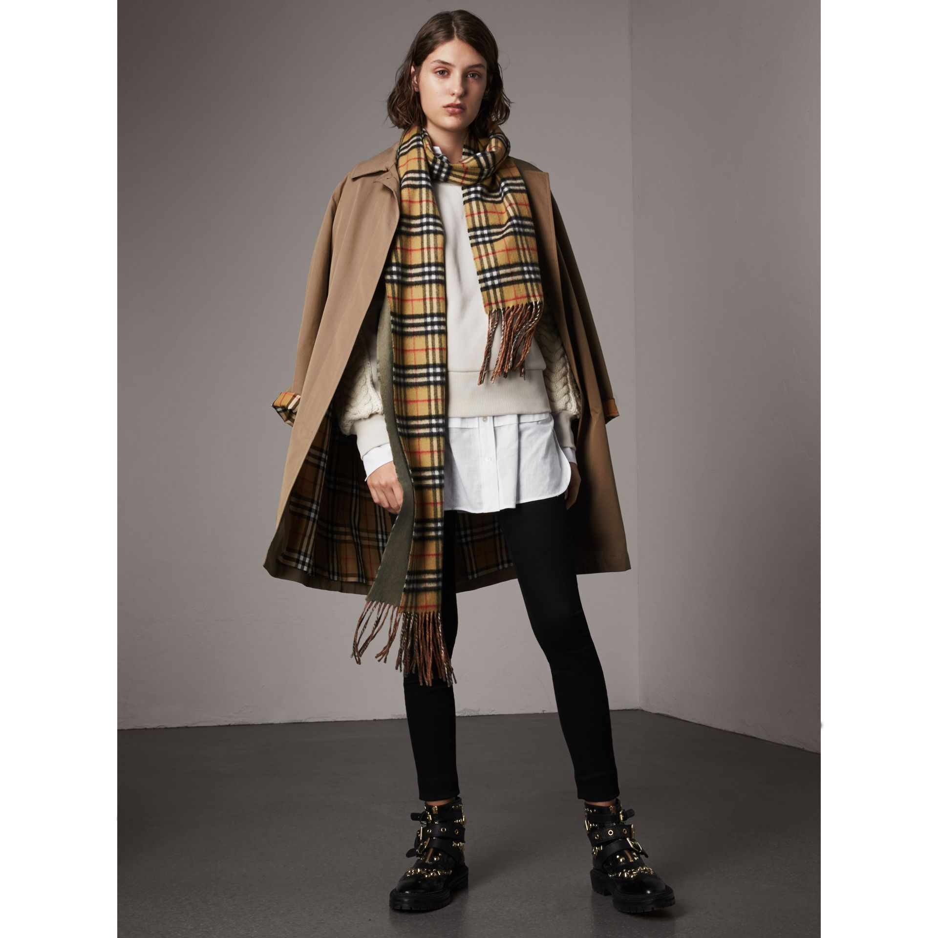 The Camden – Long Car Coat in Taupe Brown - Women | Burberry - gallery image 1