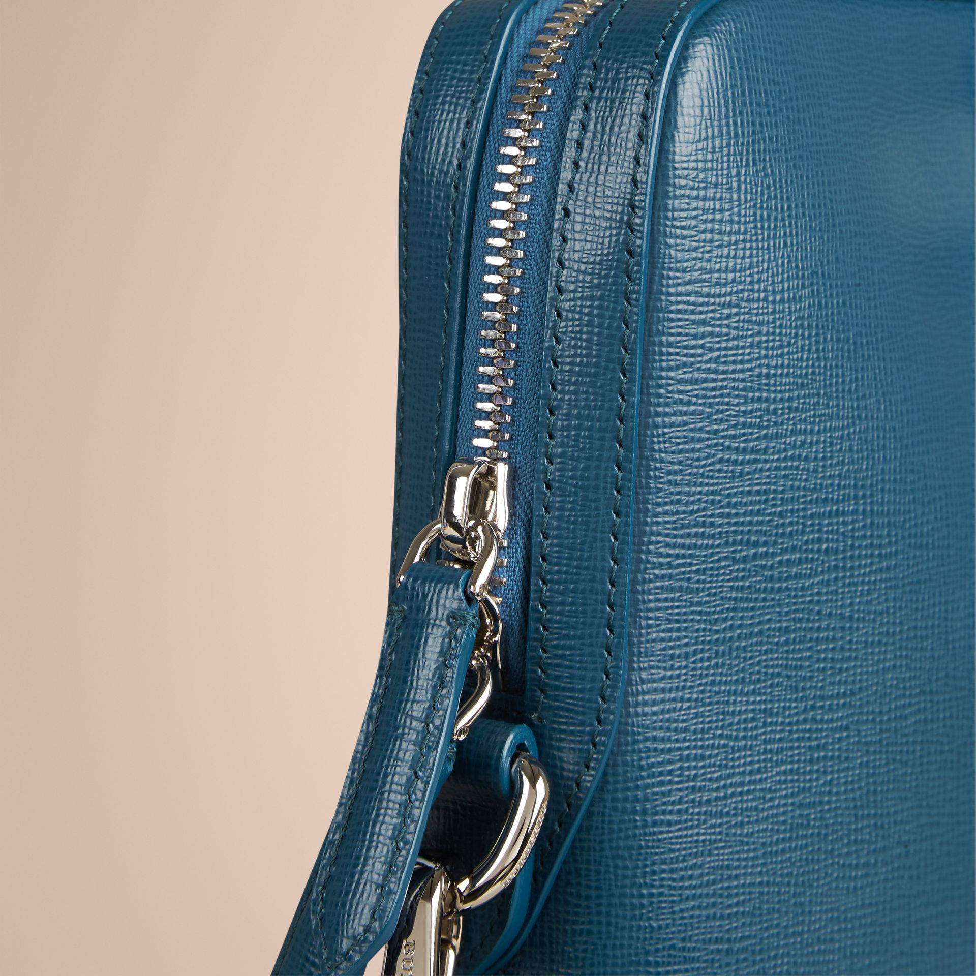 The Slim Barrow in London Leather in Mineral Blue - Men | Burberry - gallery image 6