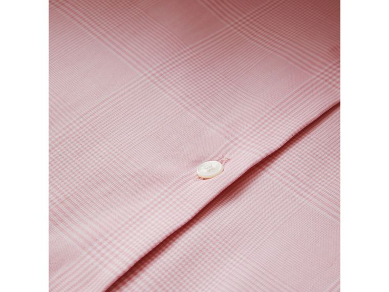 Modern Fit Check Cotton Shirt in Light Pink - Men | Burberry Singapore - cell image 1