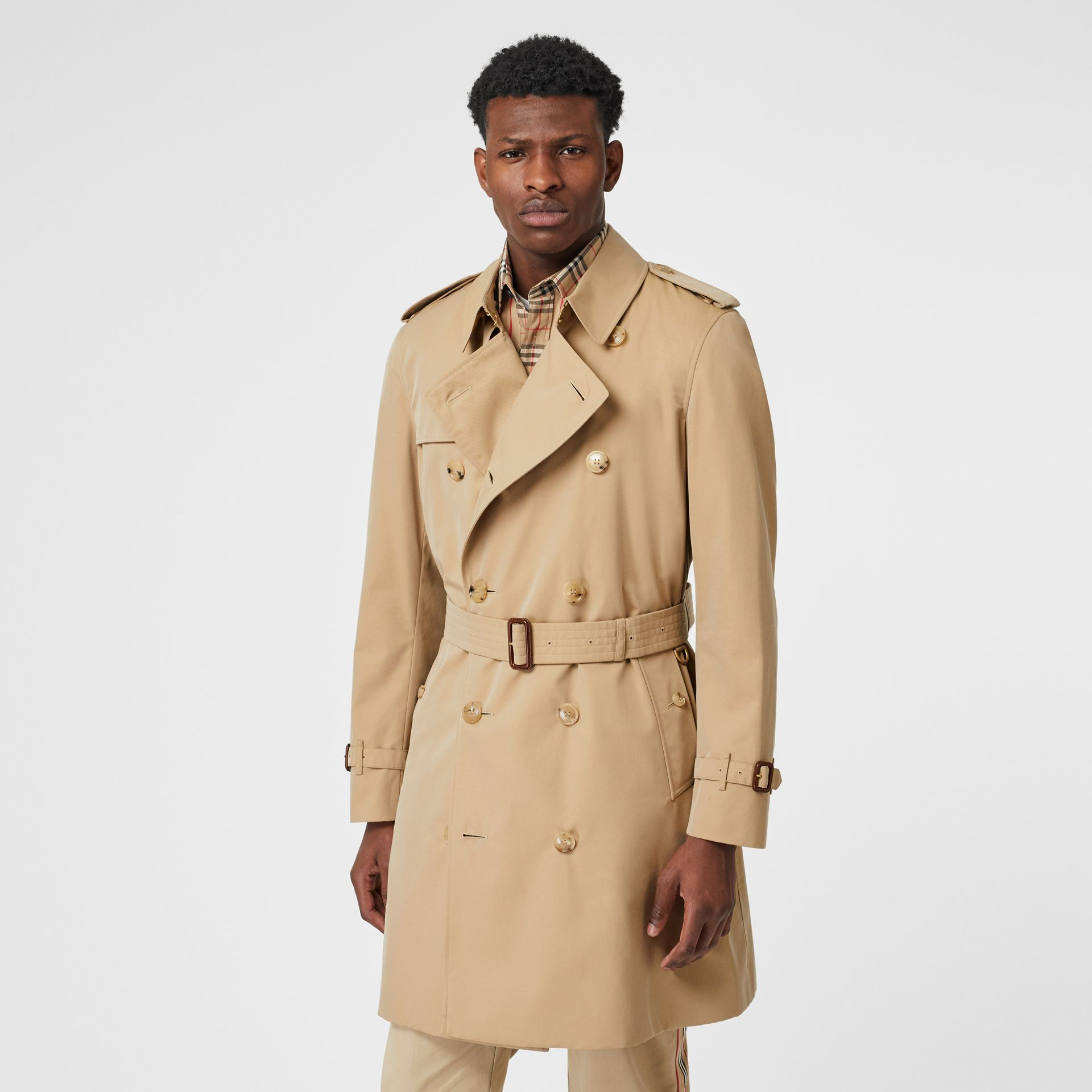Trench Heritage The Chelsea (Miel) - Homme | Burberry Canada - photo de la galerie 7
