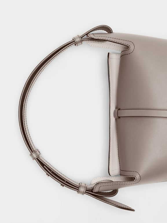 The Small Leather Bucket Bag in Taupe Brown - Women | Burberry - cell image 1