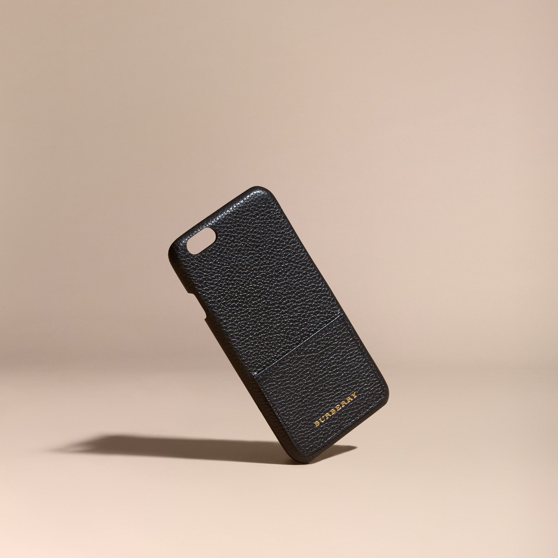 Grainy Leather iPhone 6 Case in Black | Burberry - gallery image 1